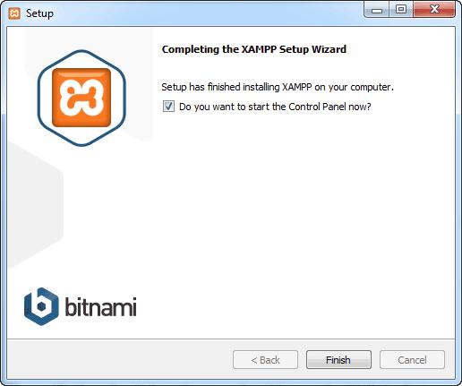 Launch XAMPP