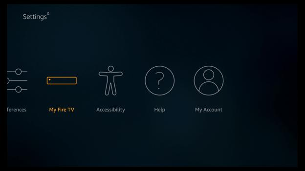 setting option on your TV