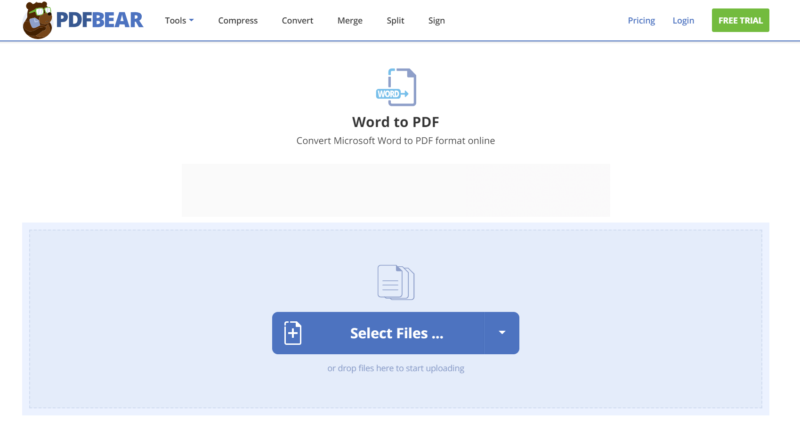 PDFBEAR DOC to PDF