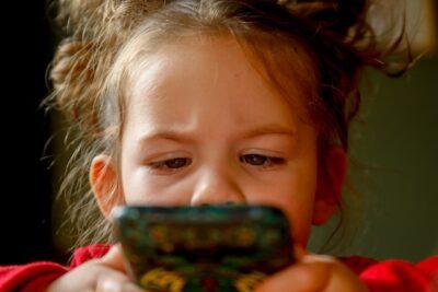 baby girl watching mobile